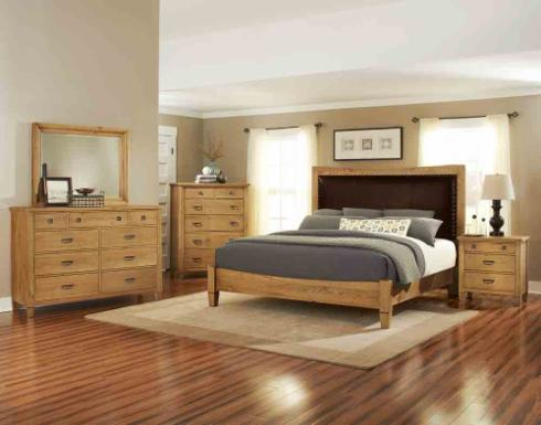 New Solid Pine Bedroom Grouping Features Your Choice Of Twist Post Bed Or Panel Shown Comes In King Queen Sizes And
